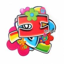 생일배너레터꽃 파티장식 종이글자배너 꽃무늬장식 HAPPY BIRTHDAY